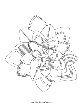 Flower-98 coloring page