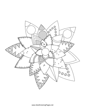 Flower-99 coloring page