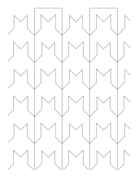 Chevron coloring page