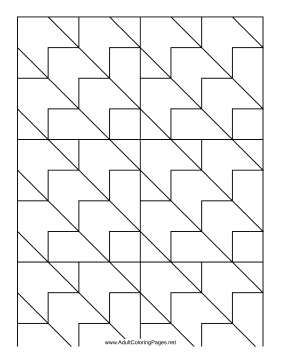 Chevrons coloring page