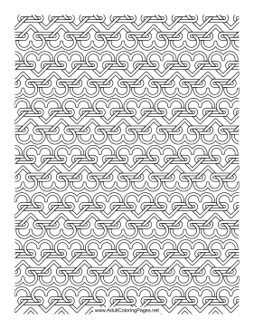 Heart Chain coloring page