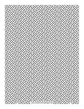 Weave coloring page