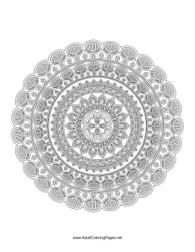 Blooming Mandala coloring page