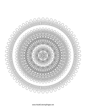 Droplets Mandala coloring page