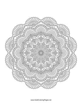 Fan Mandala coloring page