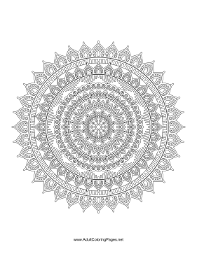 Indonesian Mandala coloring page