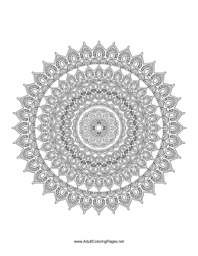 Pretty Mandala coloring page