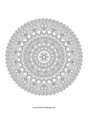 Regal Mandala coloring page