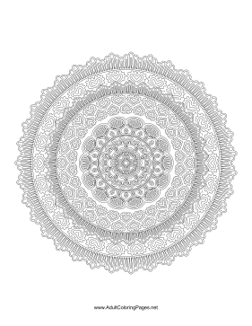 Romantic Mandala coloring page
