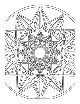 Star Weave coloring page