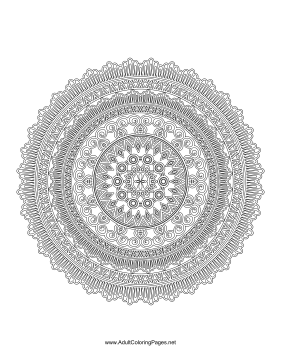 Stripes Mandala coloring page