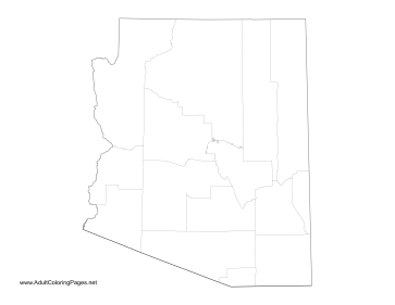 Arizona coloring page