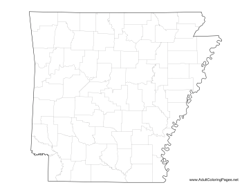 Arkansas coloring page