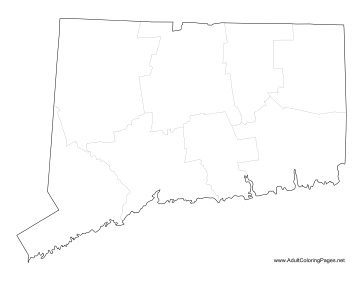 Connecticut coloring page
