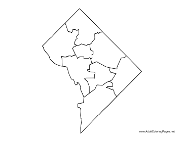 District of Columbia coloring page