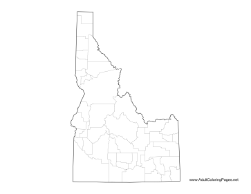 Idaho coloring page