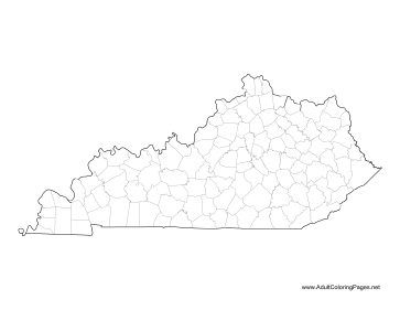Kentucky coloring page