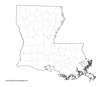 Louisiana coloring page