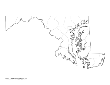 Maryland coloring page