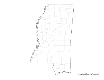 Mississippi coloring page