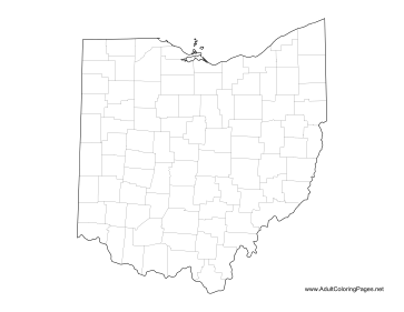 Ohio coloring page