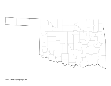 Oklahoma coloring page