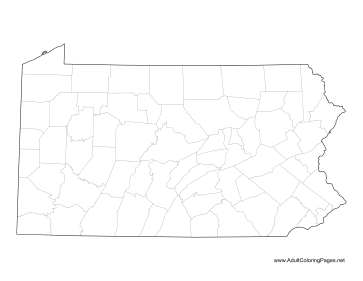 Pennsylvania coloring page