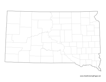 South Dakota coloring page
