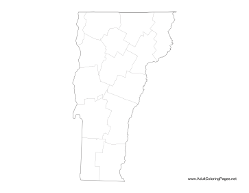Vermont coloring page