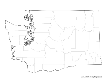 Washington coloring page
