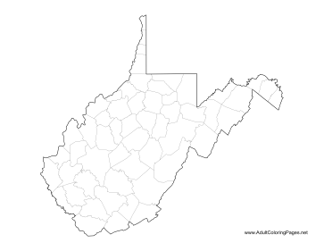virginia state map coloring pages | West Virginia Coloring Page