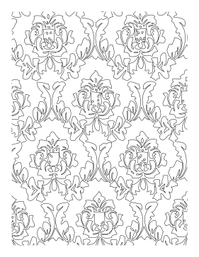 Crest coloring page
