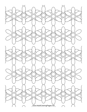 Daisy Chain coloring page