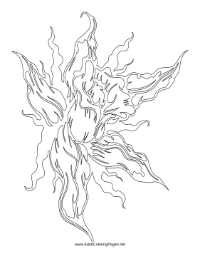 Flame coloring page