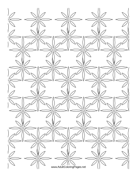 Floral Band coloring page