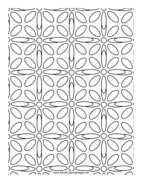Overlaid coloring page