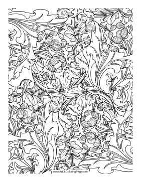 Poppies coloring page