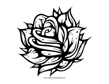 Rosy coloring page