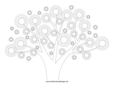 Spring_Tree coloring page