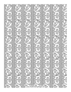 Trellis coloring page