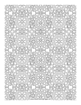 Flower Mosaic coloring page