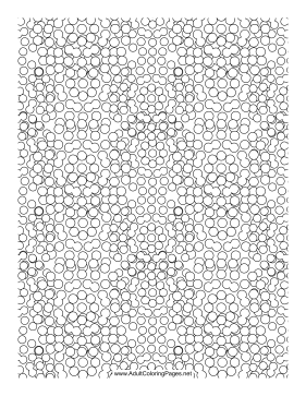 Melting coloring page