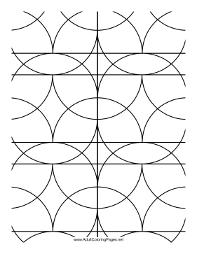 Ovals coloring page