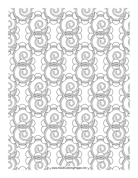 Spirals coloring page